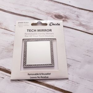 Brand new Silver Square Crystal Phone Mirror